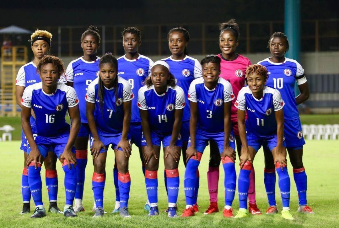 La sélection féminine haïtienne de football. Photo: FHF