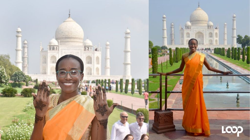 Dixon at the Taj Mahal. (Photos: Contributed)