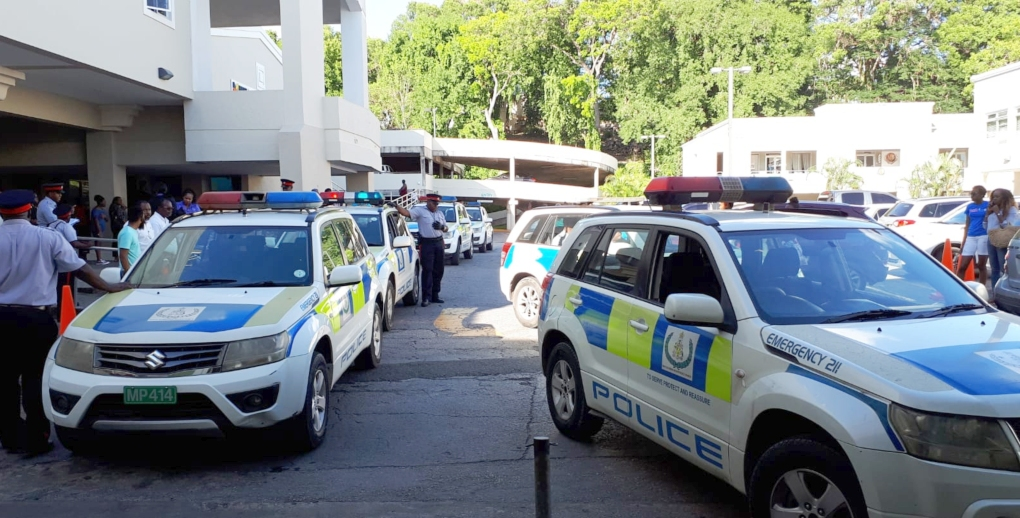 Police jeeps outside Sheraton Mall (FILE Photo)