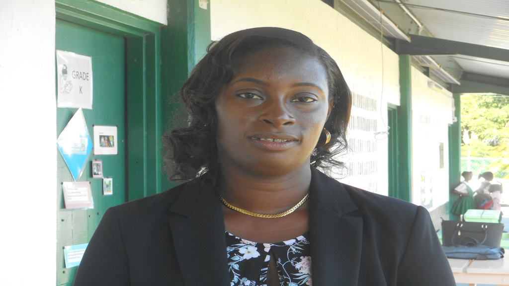 Jeanneve Charlery-Etienne, acting principal of the Piaye Combined School