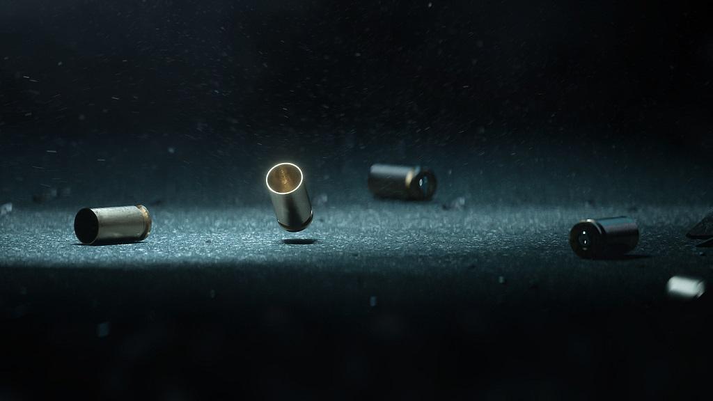 Cases of bullets lying on the floor of asphalt. (Photo: iStock)