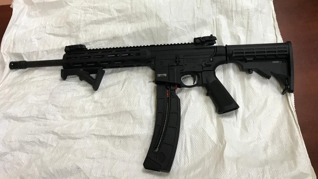M4 tactical rifle seized during police operation