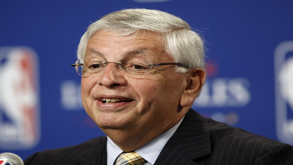 In this June 7, 2009, file photo, NBA Commissioner David Stern announces Los Angeles will be the site of the 2011 NBA All-Star basketball game, at a news conference, in Los Angeles.