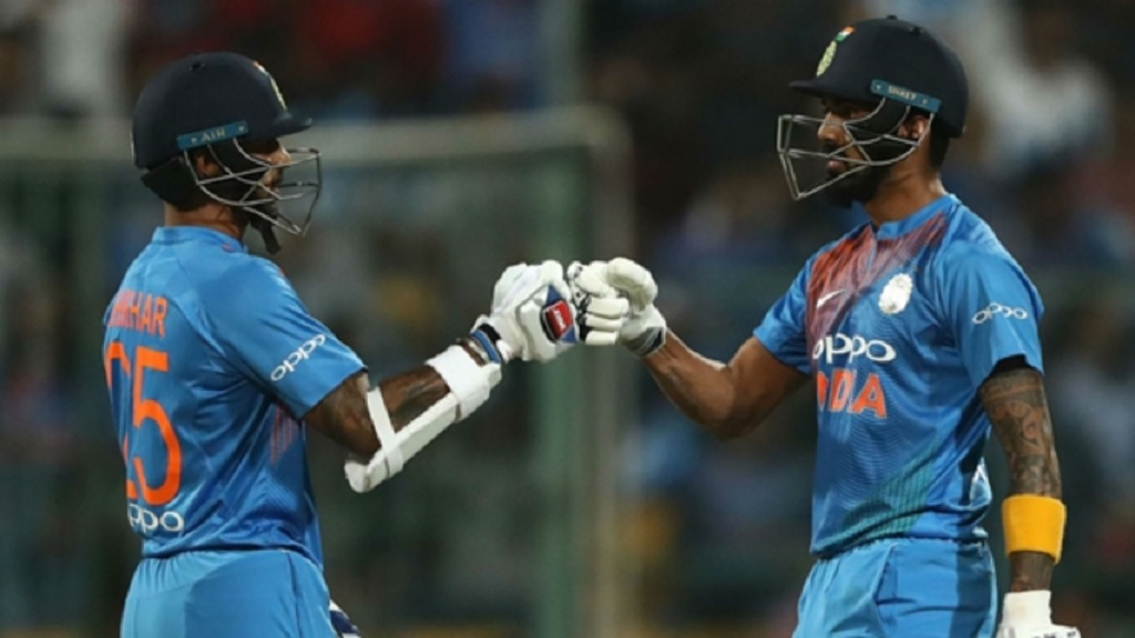 Shikhar Dhawan (left) and KL Rahul.