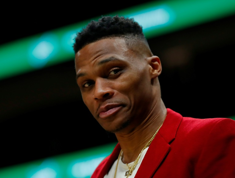 Russell Westbrook des Houston Rockets lors du match contre les Atlanta Hawks, en NBA, le 8 janvier 2020 à Atlanta
