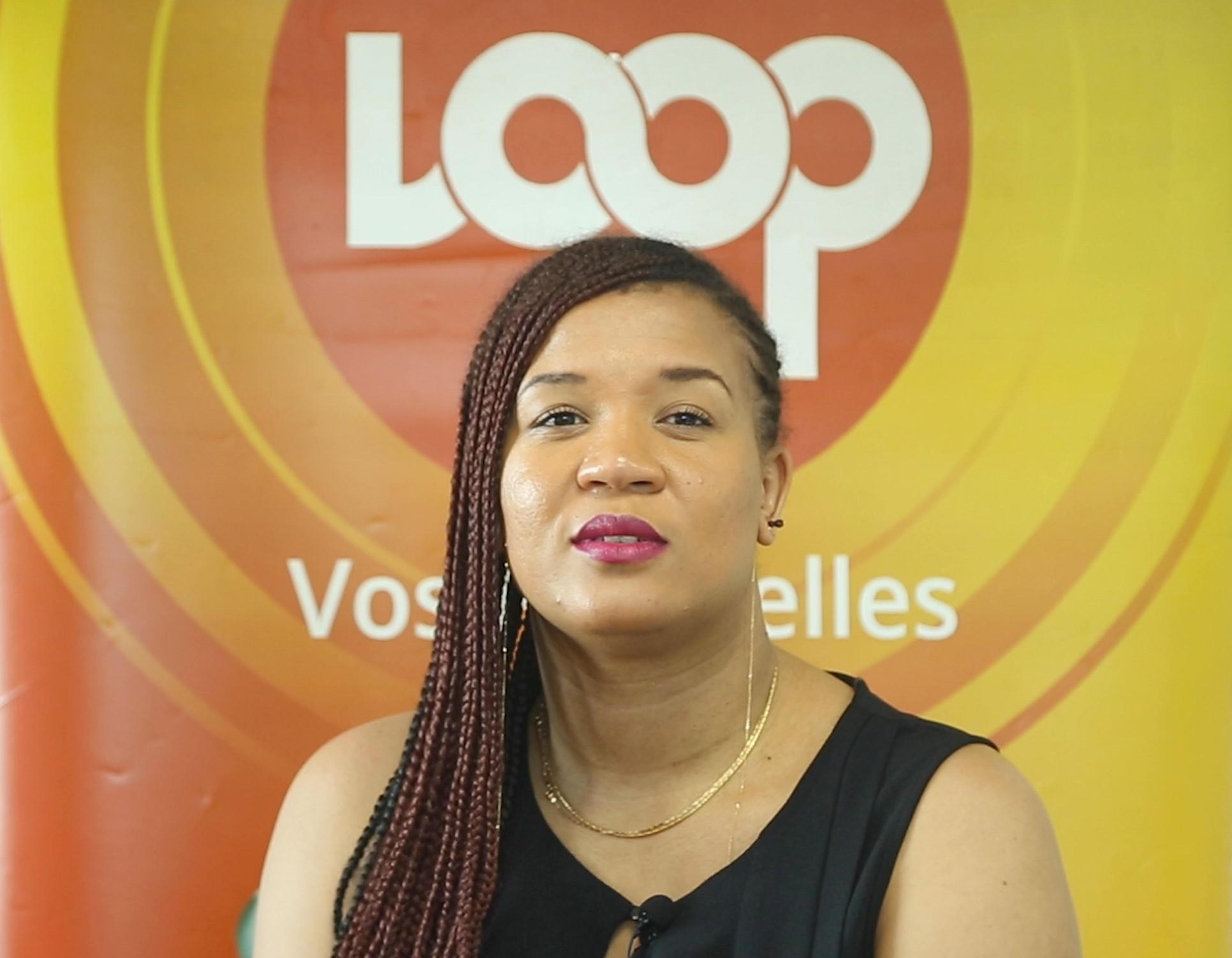 D'Yne, à la rédaction de Loop Haiti, samedi 4 janvier 2020, dans le cadre de sa tournée médiatique bouclée le 17.