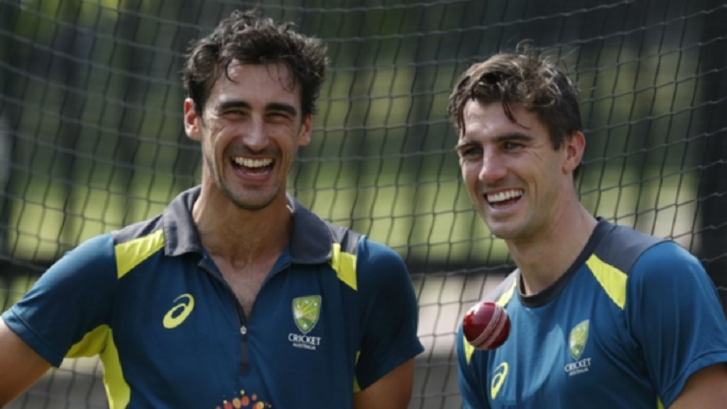Australia pacemen Mitchell Starc (left) and Pat Cummins.
