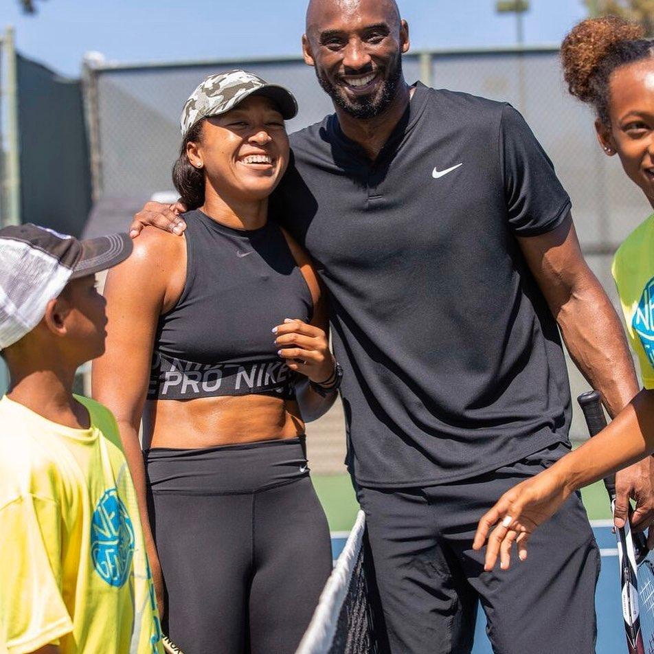 La japonaise d'origine haïtienne, Naomi Osaka et l'ancien joueur des Lakers, Kobe Bryant (décédé dimanche 26 janvier 2020). Photo: Instagram de Osaka