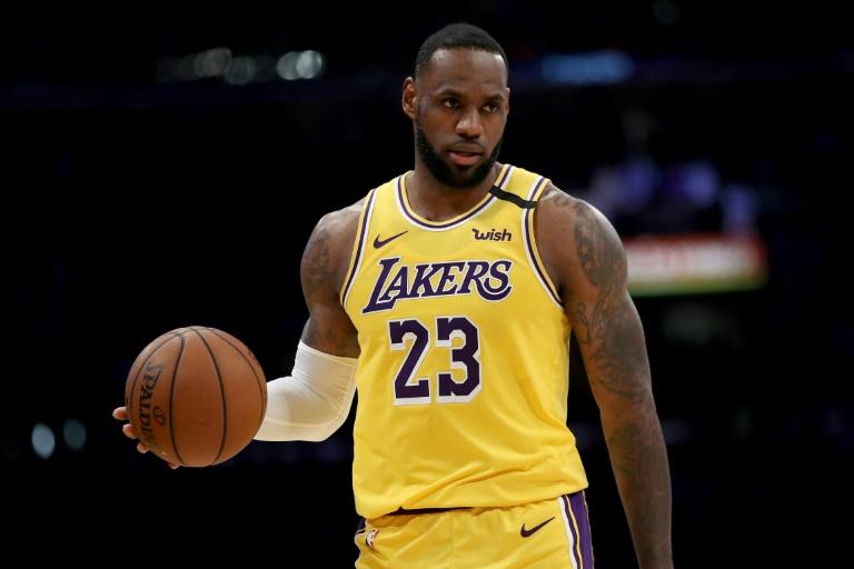 La mégastar des Lakers LeBron James lors du match de saison régulière contre Cleveland, le 13 janvier 2020 à Los Angeles