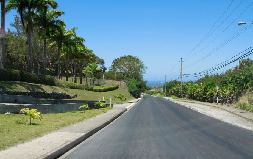 Completed road works at Farley Hill, St Peter. (MTWM)