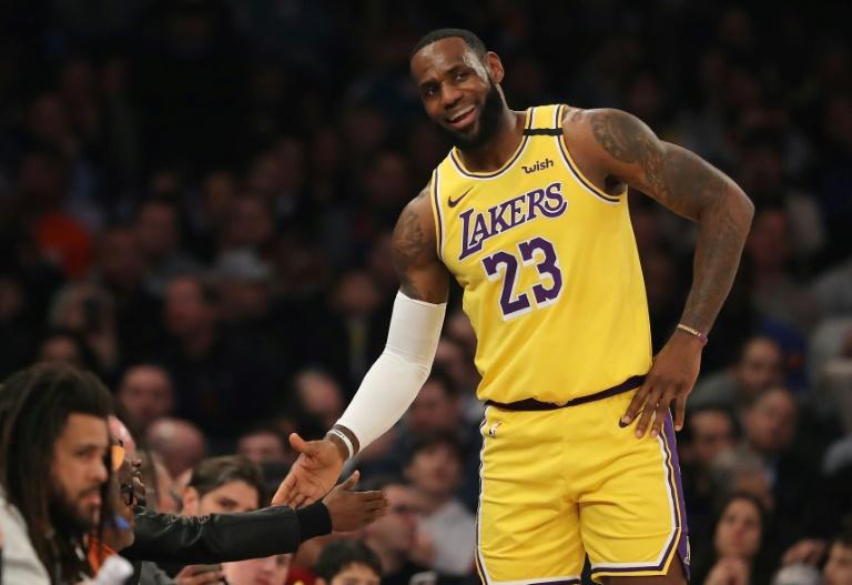 Le joueur de basketball américain LeBron James, le 22 janvier 2020, à New York