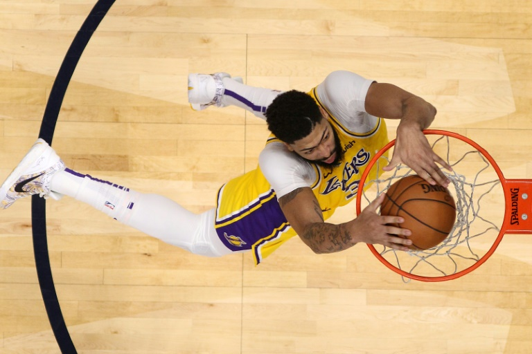 Anthony Davis des Los Angeles Lakers lors du match de NBA face aux Pelicans, à la Nouvelle-Orléans, en Louisiane, le 27 novembre 2019. GETTY IMAGES NORTH AMERICA/AFP/Archives / Chris Graythen