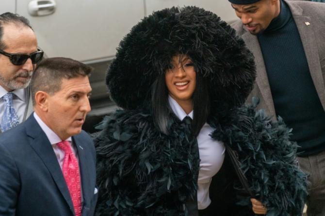 La rappeuse Cardi B lors d'une comparution au tribunal du Queens, le 10 décembre 2019  afp.com - David Dee Delgado