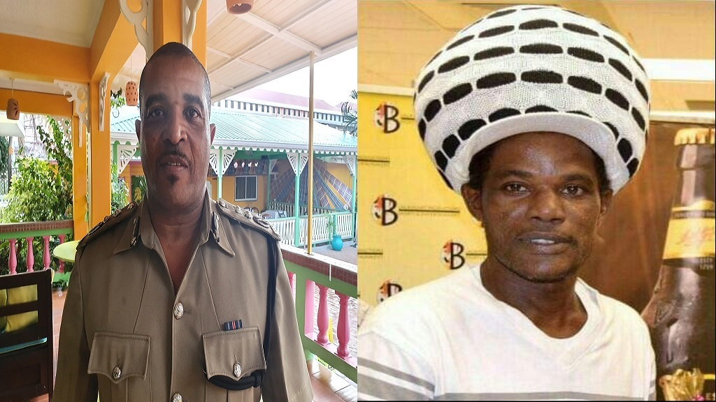 Deputy Police Commissioner, Milton  Desir (Left), Deceased Cassius Glasgow (Right)