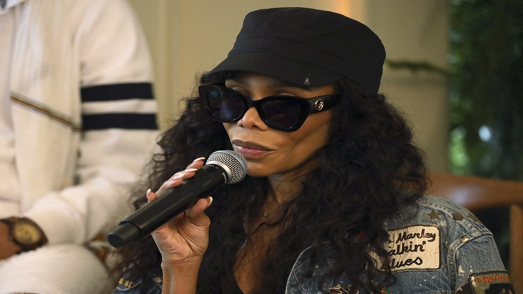 Cedella Marley participates in the Q&A panel at the Marley Brunch with Marley Family Members at the 1 Hotel West Hollywood on Friday, January 24, 2020, in West Hollywood, California. (Photo by Willy Sanjuan/Invision/AP)