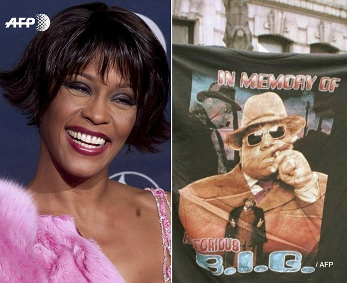Whitney Houston, Depeche Mode, Notorious B.I.G. entrent au panthéon du rock. Photo: AFP