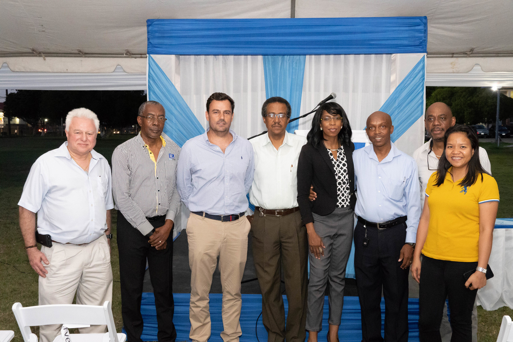 Country Manager, for Miya Jamaica Limited, Alvaro Ramalho (3rd left), joins other senior