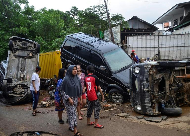 Dégâts provoqués par les inondations à Bekasi, dans l'île de Java, le 2 janvier 2020