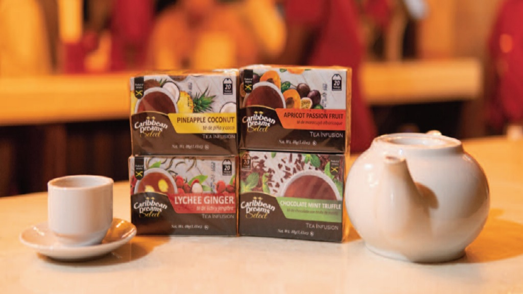 The new tea infusions, under the Caribbean Select brand include blends of tropical flavours such as pineapple coconut, lychee ginger, chocolate mint truffle, and apricot passion fruit.