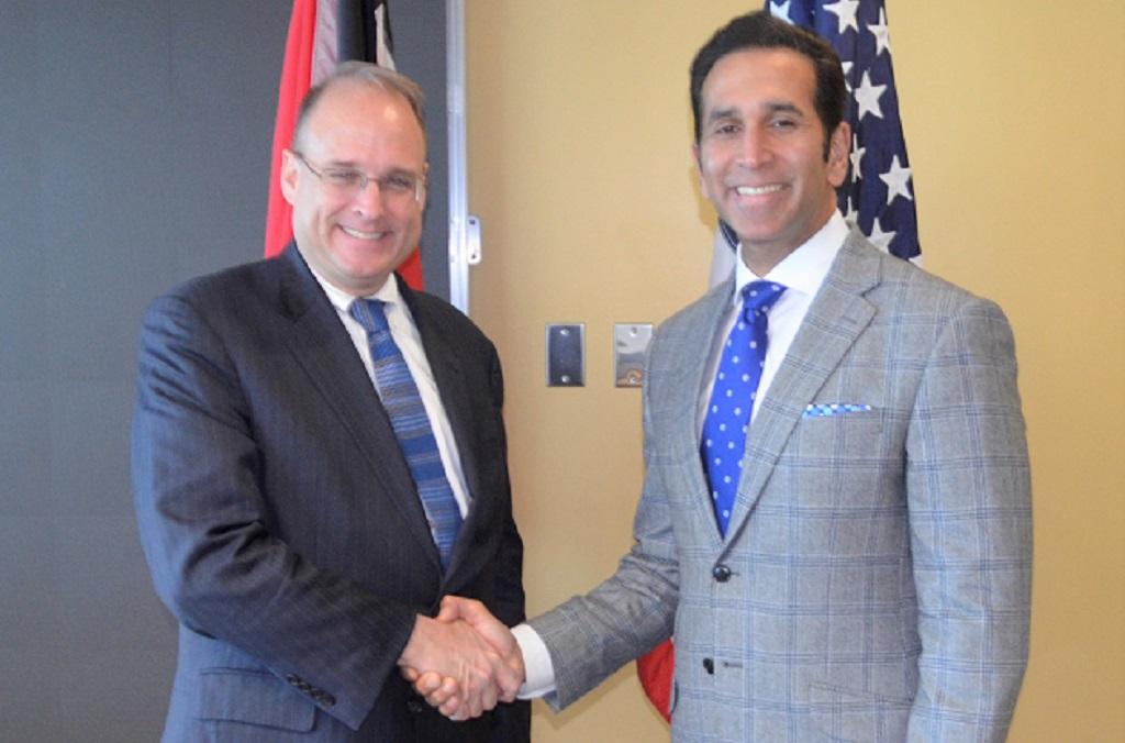 Marshall Billingslea, Assistant Secretary for Terrorist Financing, US Department of the Treasury (left); Attorney General Faris Al-Rawi