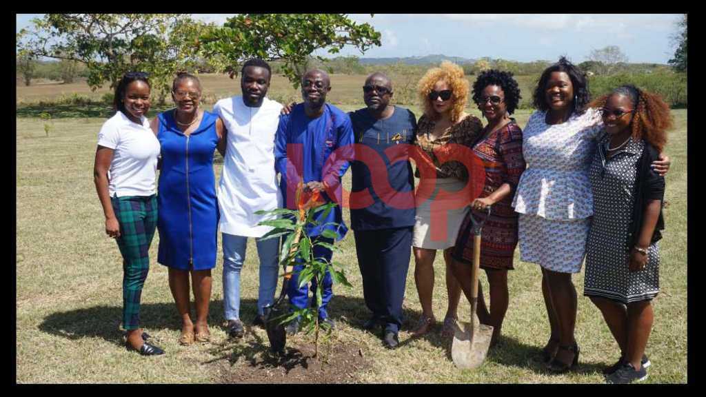 (c) Mr Akwasi Agyeman, CEO of Ghana Tourism Authority and contingent from Ghana Tourism along with members of the team from BTMI taking part in the We Gathering effort to plant 1 Milllion Trees for 2020