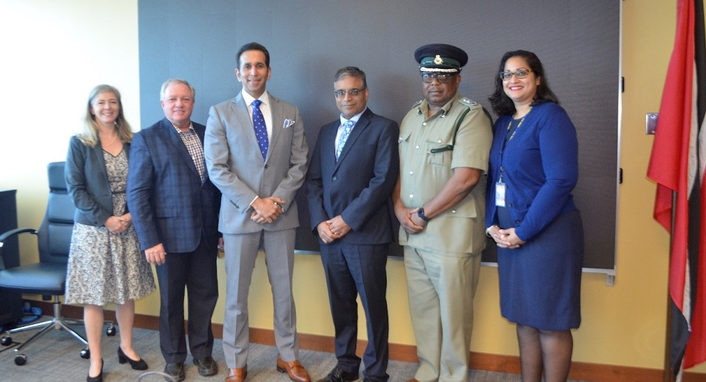 From L to R: Political and Public Affairs Counsellor, Pamela Greenwell; Advisor to the Commissioner, Correctional Services Canada Mike Ryan; Attorney General Faris Al Rawi; High Commissioner for Canada Kumar Gupta; Acting Commissioner of Prisons Dane Clarke; Nirana Parsan