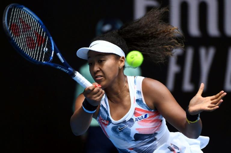 La Japonaise Naomi Osaka face à la Chinoise Saisai Zheng au 2e tour de l'Open d'Australie, le 22 janvier 2020 à Melbourne