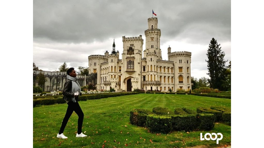 Cleo at the Hluboká Castle in the Czech Republic. (Photos: Contributed)