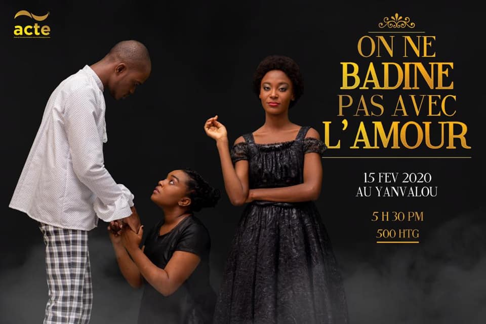 "Illustration de l'affiche du spectacle ""On ne badine pas avec l'amour""  Crédit Photo : ACTE"
