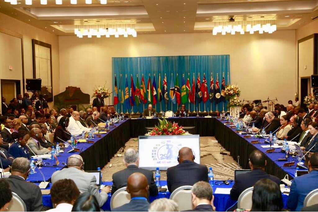Illustration d'une réunion de la CARICOM