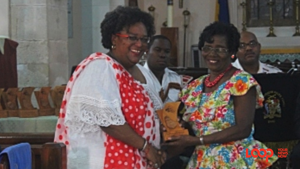 Honourable Mia Amor Mottley presented the Pride of Barbados awards