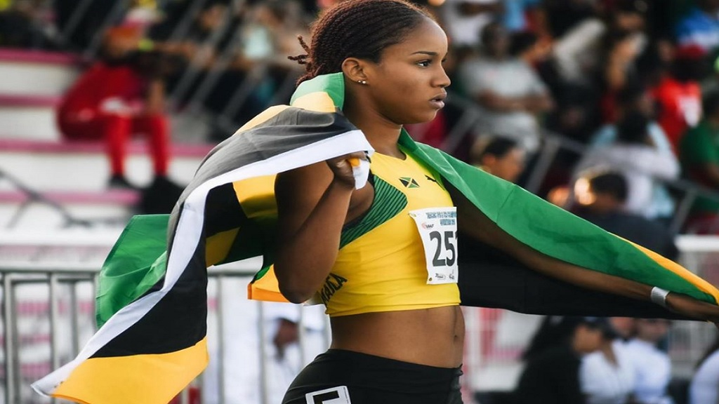 Jamaica's 17-year-old sprint sensationBriana Williams.