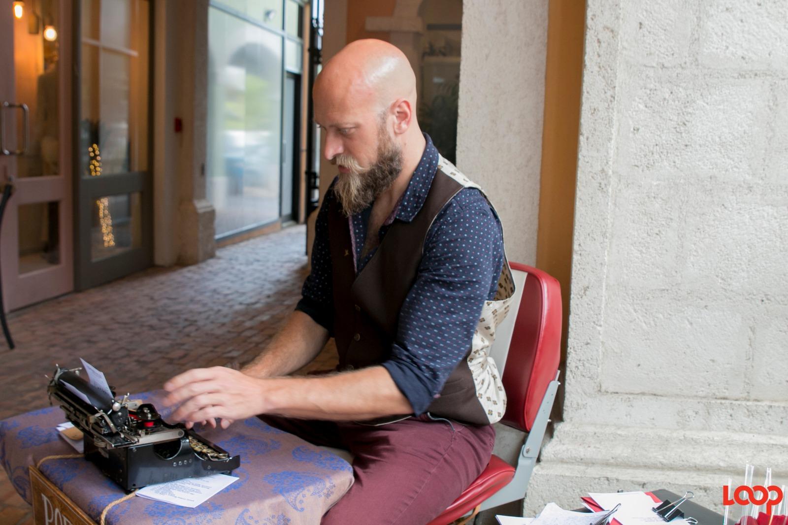 Itinerant poet Kevin Daveny