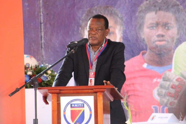 Le président de la Fédération Haïtienne de Football, Yves Jean-Bart, réélu pour la sixième fois à la tête de l'institution dimanche 2 février 2020. Photo: Haiti Tempo