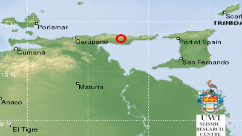Earthquake strikes west of T&T