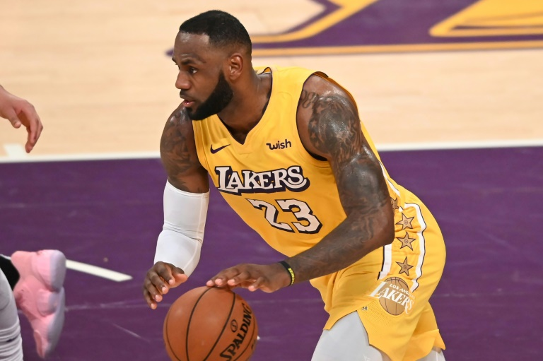 La star des Lakers LeBron James face aux Clippers, le 25 décembre 2019 au Staples Center. AFP/Archives / Robyn Beck