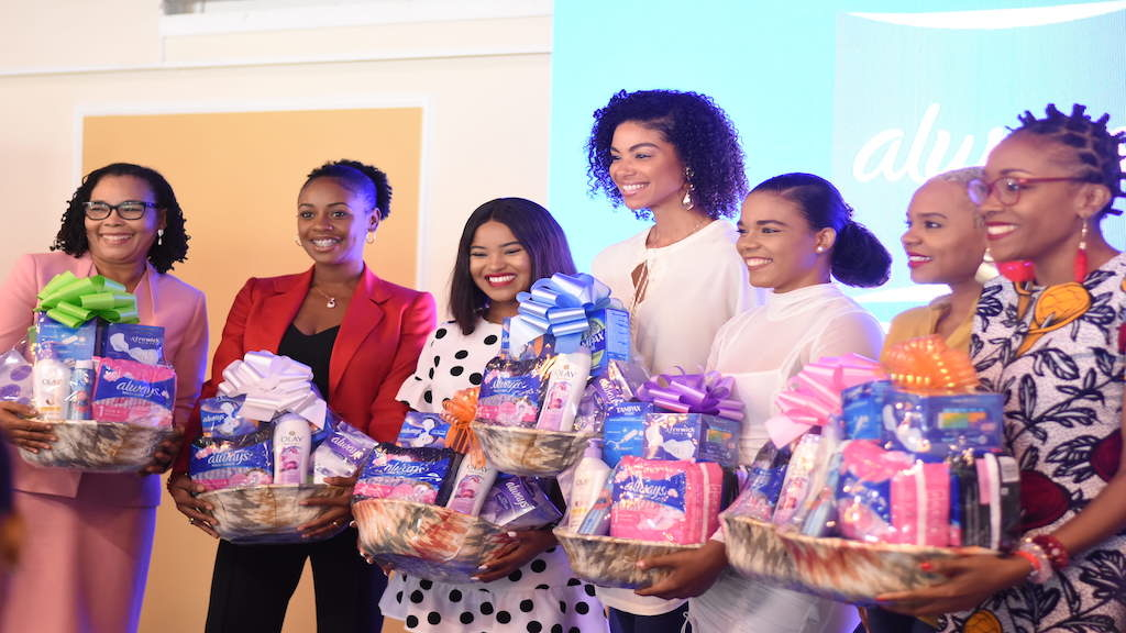 #EndPeriodPoverty campaign was officially launched on February 18 and seeks to increase access to feminine hygiene products for girls in challenging economic circumstances so they can stay confident and stay in school. (Photo: Marlon Reid)