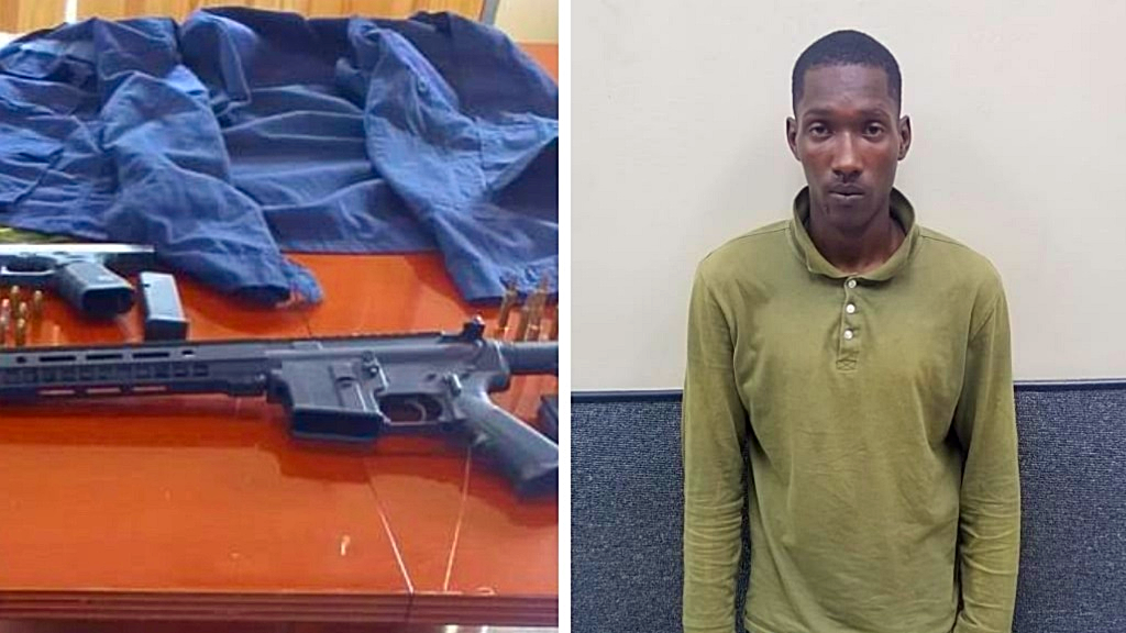 Photo: Elijah Samuel was charged with possession of ammunition.