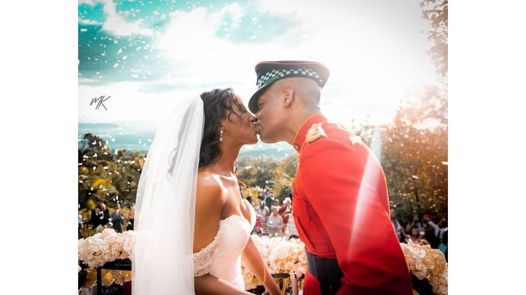 JDF military pilot officer Noel Lewis and his wife, family medicine practitioner Dr Sara Lawrence. (Photos: Instagram)