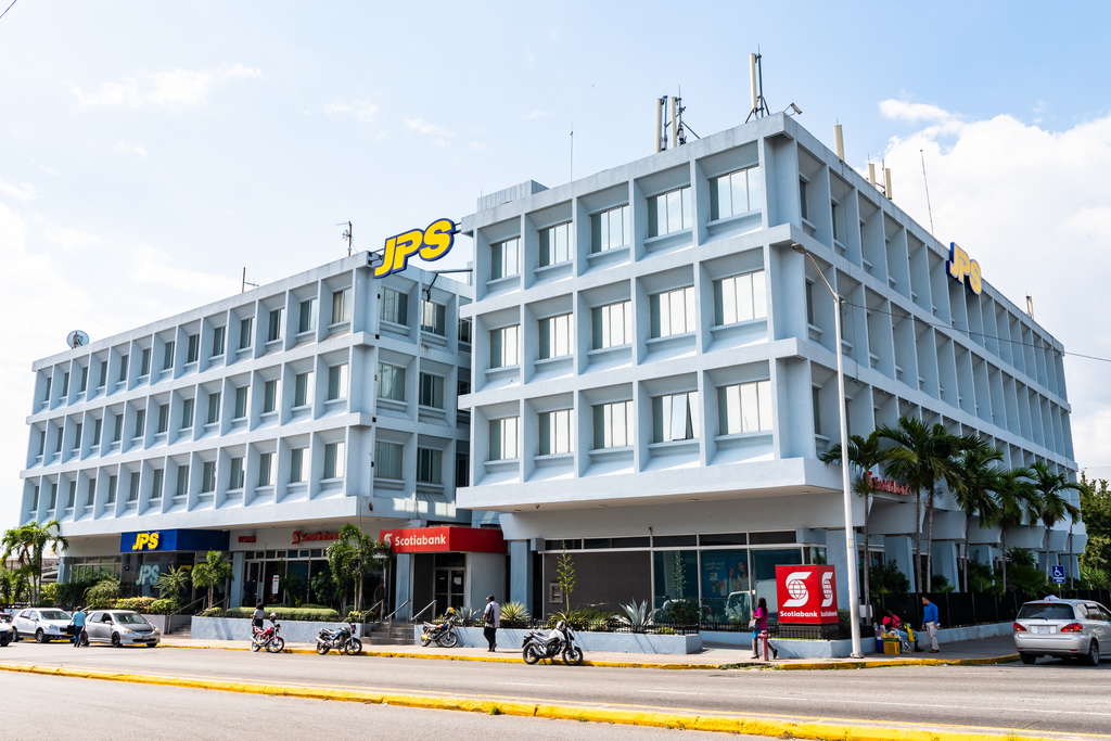 Jamaica Public Service's head office in New Kingston. Photo via iStock