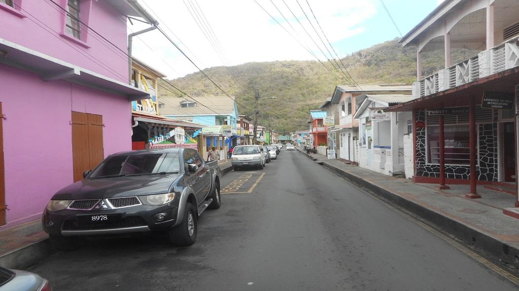 A busy street in Soufriere