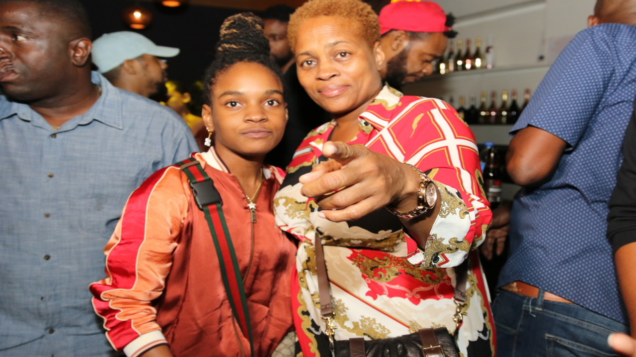 Grammy winner Koffee (left) with her mother, Jo-Anne Williams, at a post Grammy party at the Marketplace in St Andrew.