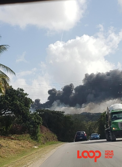 Billowing smoke could be seen coming from the Mangrove landfill