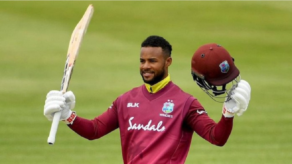 West Indies opening batsman Shai Hope.