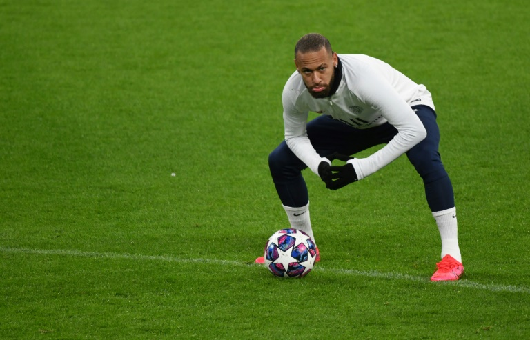 L'attaquant brésilien du Paris-SG, Neymar, à l'entraînement avec l'équipe la veille du match de Ligue des champions face au Borussia, à Dortmund, le 17 février 2020