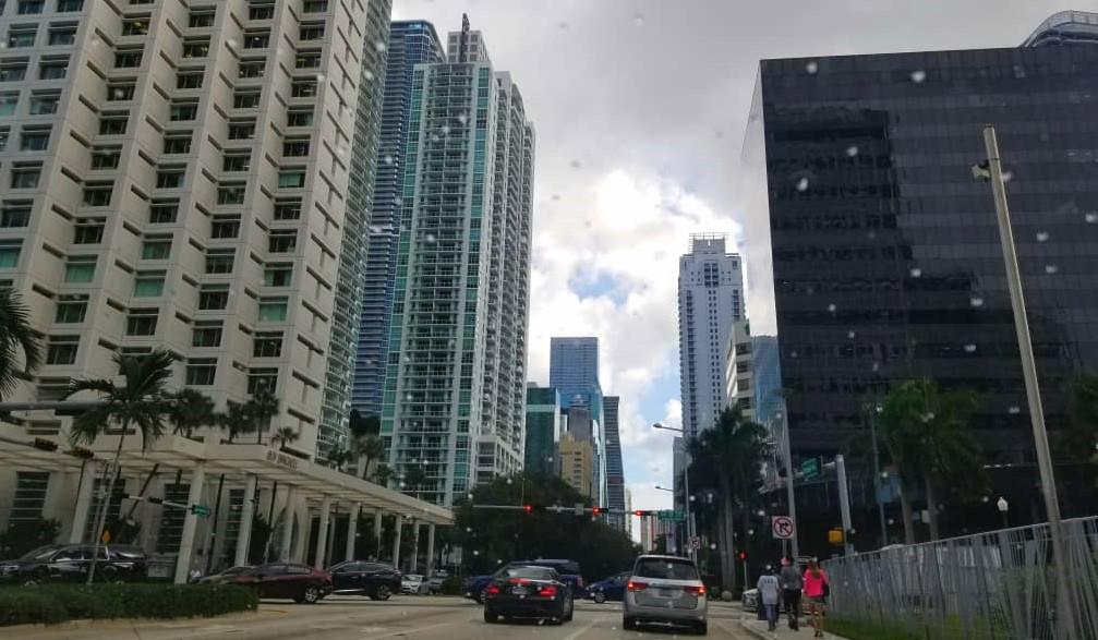 Centre ville de Miami, en Floride, aux Etats-Unis. Photo: Luckson SAINT-VIL
