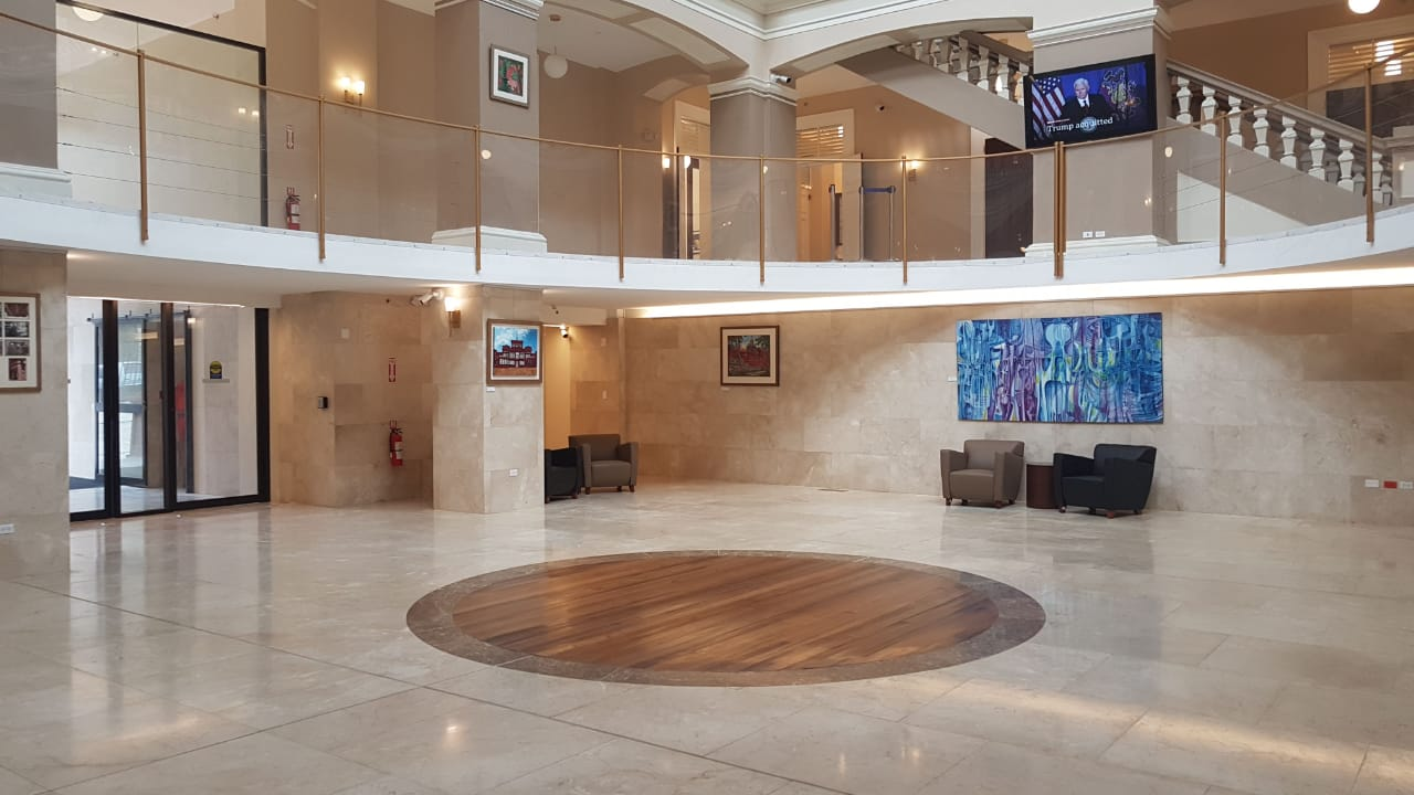 The Rotunda Gallery will be a permanent exhibition space to display Trinidad and Tobago's cultural and political heritage. Photo via Facebook, The Parliament of Trinidad and Tobago.