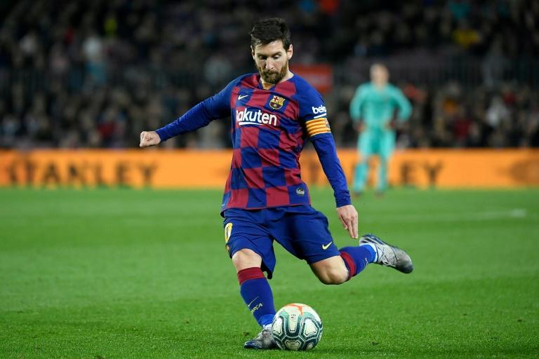 L'attaquant vedette du FC Barcelone Lionel Messi lors d'un match contre Levante, le 2 février 2020 au Camp Nou