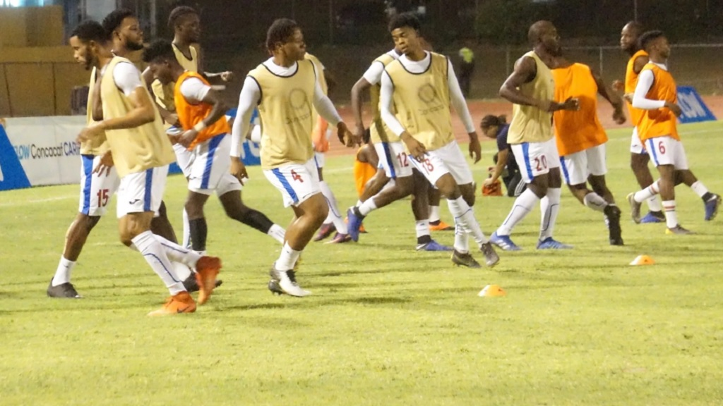 Members of Portmore United squad.