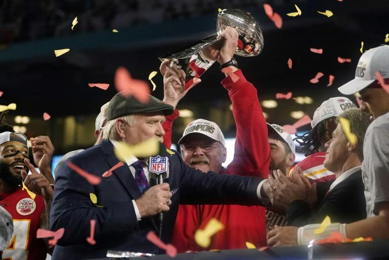 Le quarterback de Kansas City Patrick Mahomes lors du Super Bowl, le 2 février 2020 à Miami (Etats-Unis)